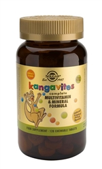 Solgar Kangavites(R) Multivitamin & Mineral Chewable Tablets Tropical Punch 120