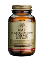 Solgar NAC (N-Acetyl Cysteine) 600 mg Vegetable Capsules  60