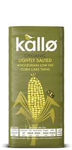 Kallo Organic Corn Cakes Thin Lightly Salted 130G