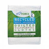 EcoForce Recycled Multipurpose Cloths 2 Pack