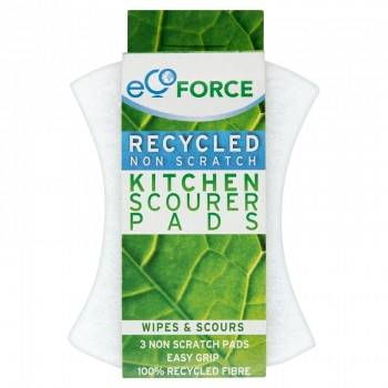 EcoForce Recycled Non Scratch Scourer Pads 3 Pack