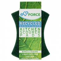 EcoForce Recycled Heavy Duty Scourers 3 Pack