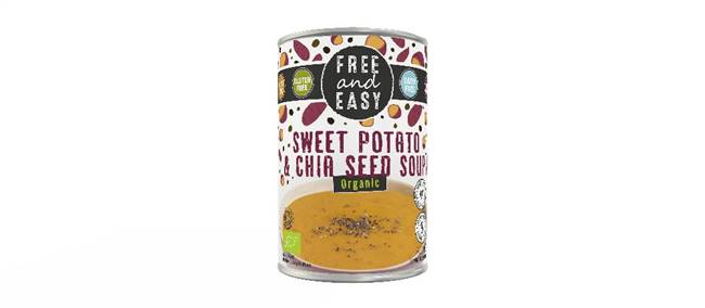 Free & Easy Organic Sweet Potato & Chia Seed Soup 400g