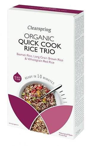 Clearspring Organic Quick Cook Rice Trio 250g