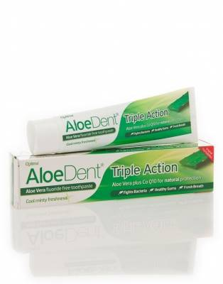 AloeDent Triple Action Mint Toothpaste + Co Q10 100ml