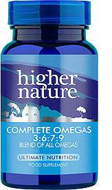 Higher Nature Complete Omegas 3 6 7 9 30 Caps