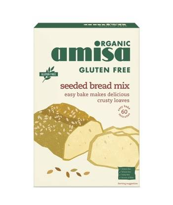 Amisa Organic Gluten Free Seeded Bread Mix 500g