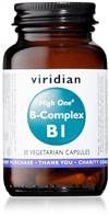 Viridian HIGH ONE Vitamin B1 with B-Complex 30 Caps