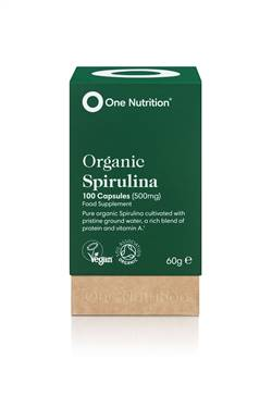 One Nutrition Organic Spirulina 500mg 100 Caps
