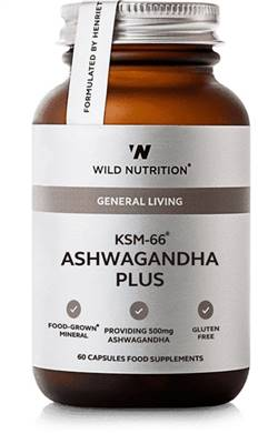 Wild Nutrition Food-Grown KSM-66 Ashwagandha Plus 60 Caps