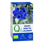 QI ORGANIC GREEN TEA & BLUEBERRY 20BAGS