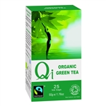 QI ORGANIC FAIRTRADE GREEN TEA 25BAGS