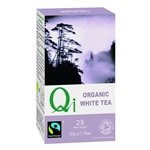 QI ORGANIC FAIRTRADE WHITE TEA 25BAGS