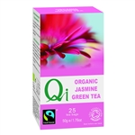 QI ORGANIC FAIRTRADE JASMINE GREEN TEA 25BAGS