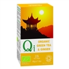 QI ORGANIC FAIRTRADE GREEN TEA WITH GINGER 25BAGS