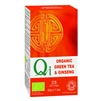 QI ORGANIC GREEN TEA WITH GINSENG 25BAGS