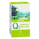 QI PURE & SIMPLE GREEN TEA 25BAGS