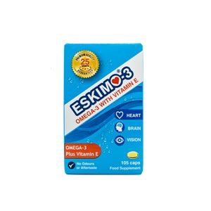 ESKIMO 3 STABLE FISH OIL 105CAPS
