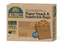 If You Care Paper Snack & Sandwich Bags 48