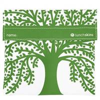 LunchSkins Reusable Velcro Sandwich Bag Green Tree