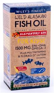 Wiley's Finest Elementary EPA for Kids 125ml