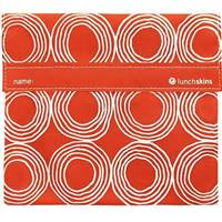 LunchSkins Reusable Velcro Quart Bag Sunset Circles