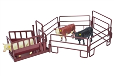 Cattle Squeeze Chute Play Set Red
