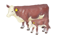 Hereford Cow & Calf Pair