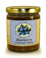 Flavoured honey with real blueberries.
