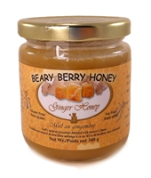 Creamed honey mixed with natural ginger