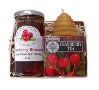 Cranberry Honey, Cranberry Tea & Beeswax Candle