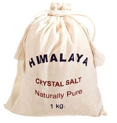 Himalayan Salt in a Cotton Bag 1 kg