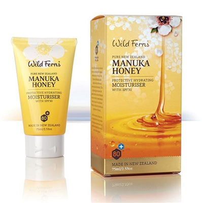Manuka Honey Protective Hydrating Moisturizer with SPF30 by wild ferns, Canada Ontario. The Honey Bee Store
