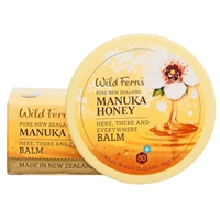 Manuka Honey Manuka Here, There Everywhere Balm wild ferns, Canada Ontario. The Honey Bee Store