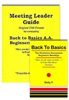 Back to Basics Meeting Leader Guide (Original Format) and Back to Basics Book