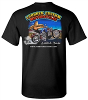 Lubbock Custom Motorcycles Mens Piston Black Biker T Shirt