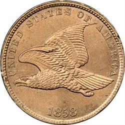 1858 Small Letters Flying Eagle Cents