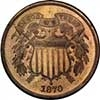 1870 Two Cent Piece