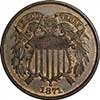 1871 Two Cent Piece