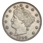 1890 Liberty Head V Nickel