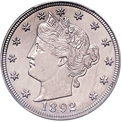 1892 Liberty Head V Nickel