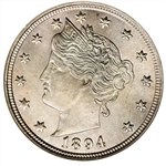 1894 Liberty Head V Nickel