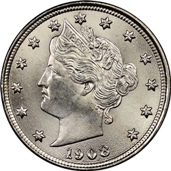 1908 Liberty Head Nickel