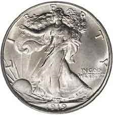 1919-S Walking Liberty Half Dollar