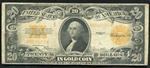 1922 $20 Gold Certificate Notes