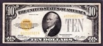 1928 $10 Gold Certificate Notes