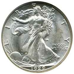 1929-S Walking Liberty Half Dollar