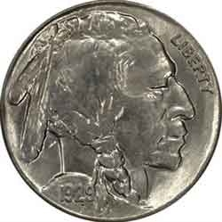 1929-S Buffalo Head Nickel Coins
