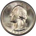 1936 Washington Quarter