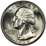 1939-D Washington Quarter